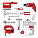 Electric power tools vector illustration. Royalty Free Stock Image