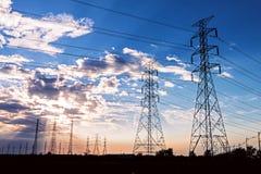 Electric Power-Torens Royalty-vrije Stock Foto's