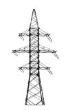 Electric power tower. Royalty Free Stock Photos