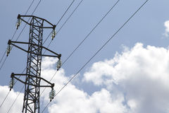 Electric power tower Stock Images