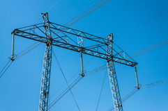 Electric power tower detail Stock Image
