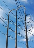 Electric power tower and insulatros Royalty Free Stock Photography