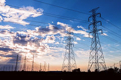 Electric power towers Royalty Free Stock Photos