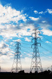 Electric power towers Stock Image