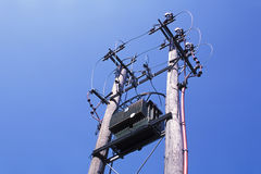 Electric Power Transformer Royalty Free Stock Photography