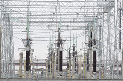 Electric Power Transformers at Thermal Power Plant Stock Photography