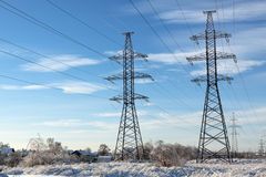 Electric power transmission Stock Image