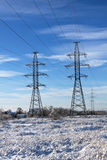 Electric power transmission Royalty Free Stock Images