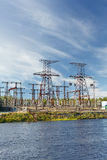 Electric power transmission Stock Photos