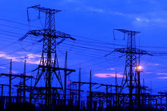 Free Electric Power Transmission Royalty Free Stock Image - 43090976