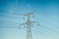 Electric Power Transmission Line Europe USA ASIA Royalty Free Stock Photos