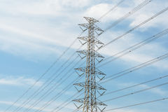 Electric Power Transmission Lines Stock Photography
