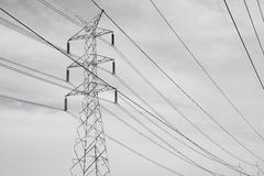 Electric Power transmission lines Stock Images