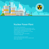 Electric Power Transmission from a Thermal Power Station. Nuclear Power Plant on the Background of the City , Thermal Power Station, Electric Power Transmission Stock Images
