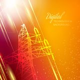Electric power transmission tower. Royalty Free Stock Photos