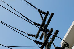 Electric power transmission tower. Energy and technology royalty free stock photos