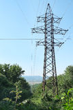 Electric power transmission towers Stock Photo
