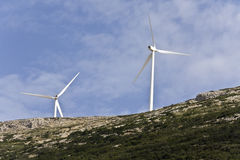 Electric power wind generators Royalty Free Stock Photography