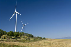 Electric power wind generators Royalty Free Stock Photo
