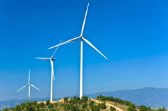 Electric power wind generators Stock Photography