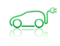 Electric powered car symbol Royalty Free Stock Photography