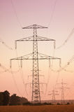 Electric powerlines Royalty Free Stock Images