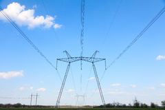 Electric powerlines Royalty Free Stock Image