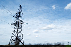 The electric pylon Stock Images