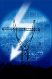 Electric pylon Stock Photography
