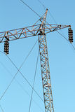 Electric pylon and cables Royalty Free Stock Photography