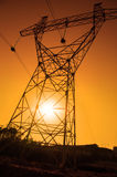 Electric pylon, energy power Royalty Free Stock Images