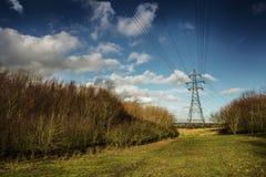 Electric pylon Stock Images