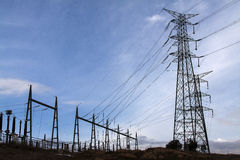 Electric pylon. Image of an electric pylon Stock Photography