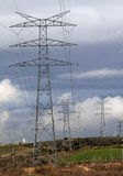 Electric pylon. Image of an electric pylon Stock Image