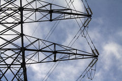 Electric pylon. Image of an electric pylon Royalty Free Stock Photo
