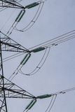 Electric pylon. Image of an electric pylon Stock Images