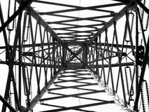 Electric pylon structure Royalty Free Stock Image