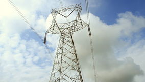 Electric pylon stock video footage