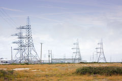 Electric pylons Stock Photography