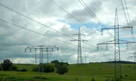 Electric pylons Royalty Free Stock Photos