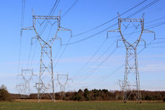 Electric pylons Royalty Free Stock Image