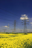 Electric pylons Royalty Free Stock Photo
