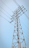 Electric pylons on the background of sky Stock Images