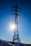 Electric pylons. Power lines and electric pylons Stock Images