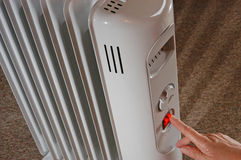 Electric radiator Royalty Free Stock Photos