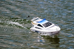 Electric radiocontrolled model boat Royalty Free Stock Photo