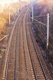 An electric railway Stock Photo