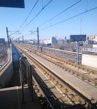 Electric railway. At a sub-way station Tianjin China Royalty Free Stock Photos