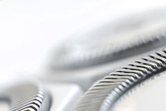 Electric Razor. Blade Detail on White stock image