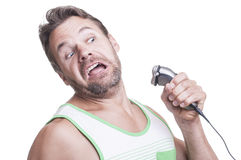 Electric razor attack royalty free stock image